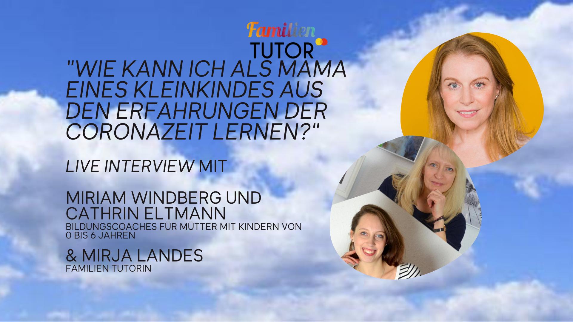 Family Friday Tutorial mit Miriam Windberg und Cathrin Eltmann