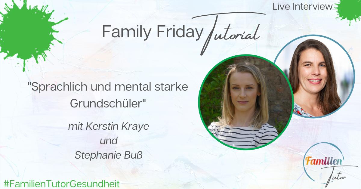 """Live Interview: """"Sprachlich und mental starke Grundschüler"""""""